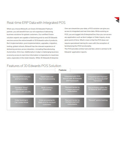 real time erp data with intigrated pos