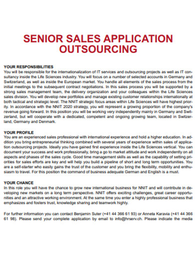sales application outsourcing example