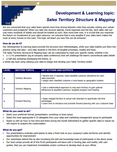 sales territory structure and mapping