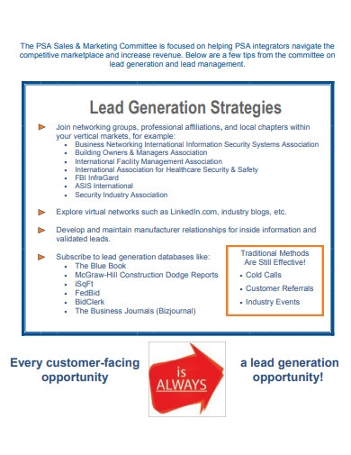 sales and marketing lead generation strategies