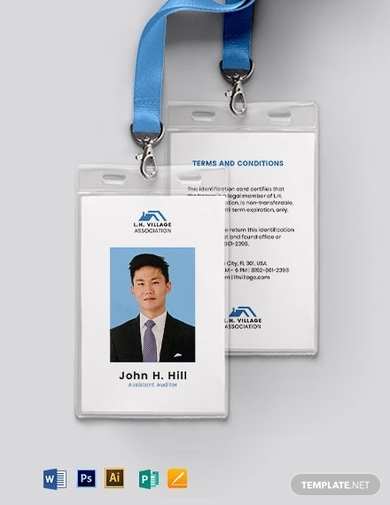simple association id card template