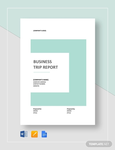 simple business trip report template