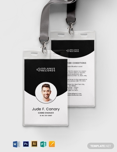 simple office id card template