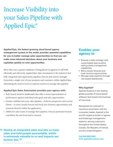 simple sales pipeline example