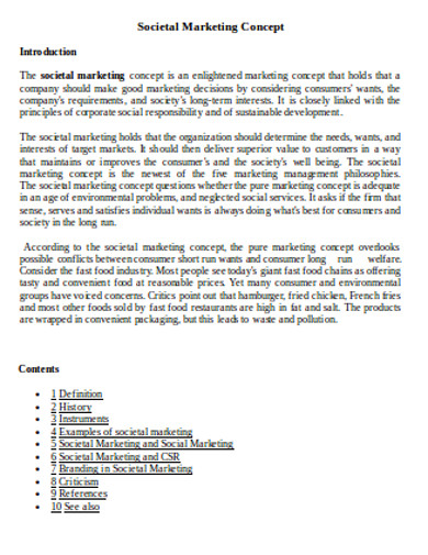 societal marketing concept example