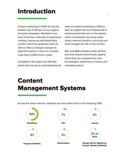 state b2b content marketing report examples