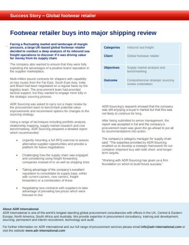 supply market analysis and benchmarking