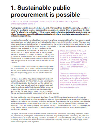 sustainable public procurement example