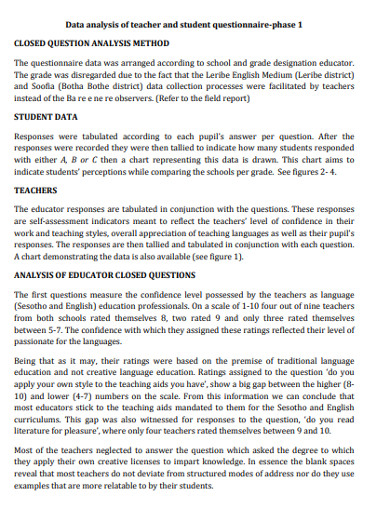 teacher and student appreciation questionnaire