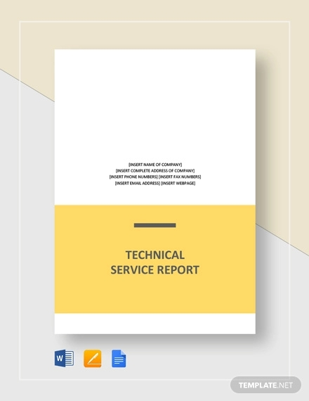 technical service report template1