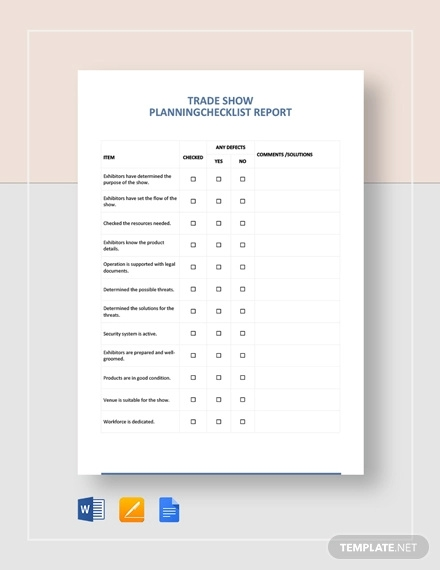 trade show planning checklist template
