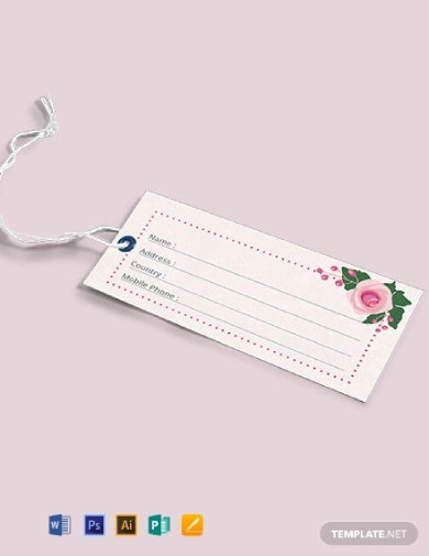 wedding luggage tags