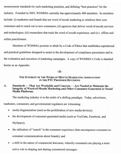 word of mouth marketing association example