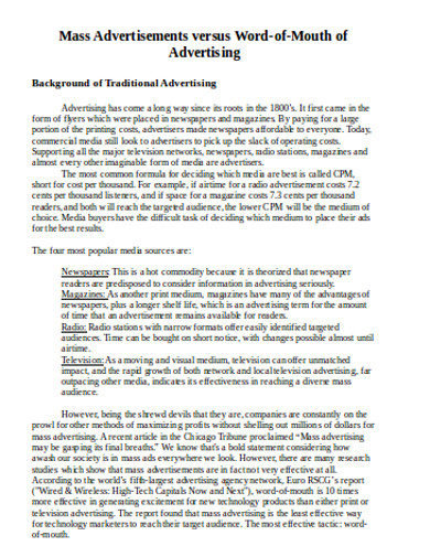word of mouth marketing in doc