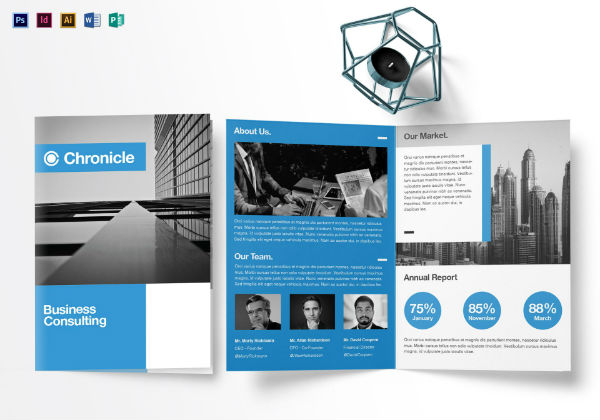 a5 half fold brochure mock up