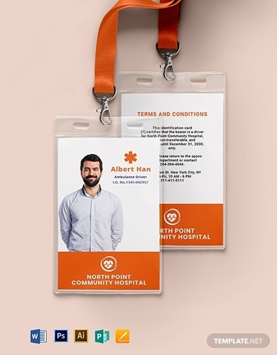 ambulance id card template