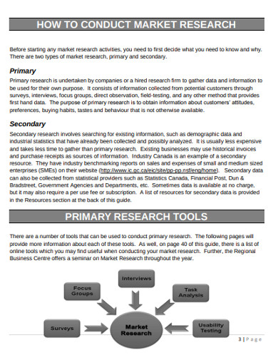 basic market research business plan example