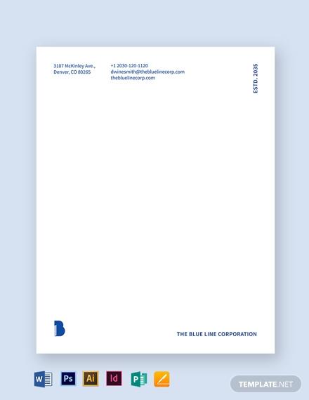 blue letterhead