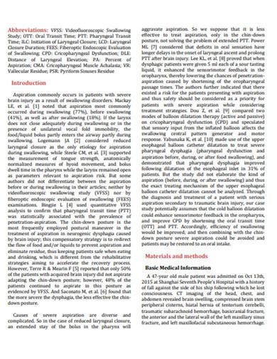 brain injury patient case study example