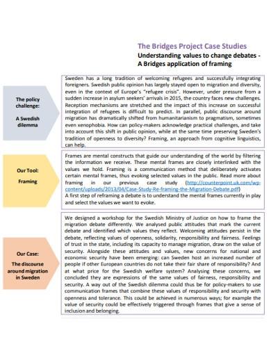 bridges project case studies examples