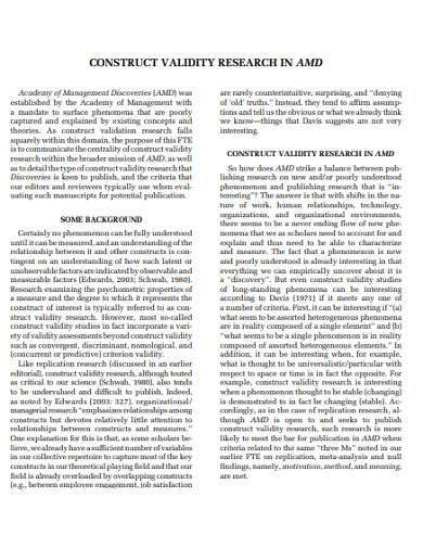 construct validity in research example