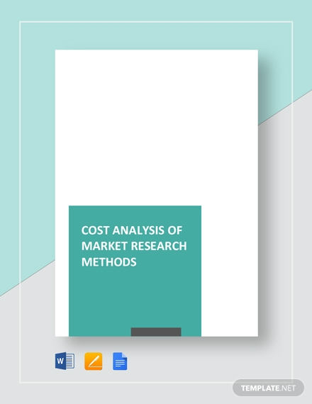 cost analysis of market research methods