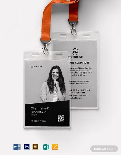 design id card template