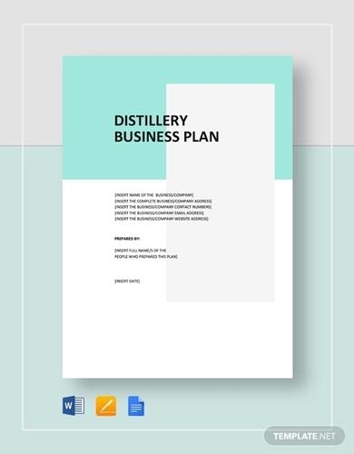 distillery business plan template