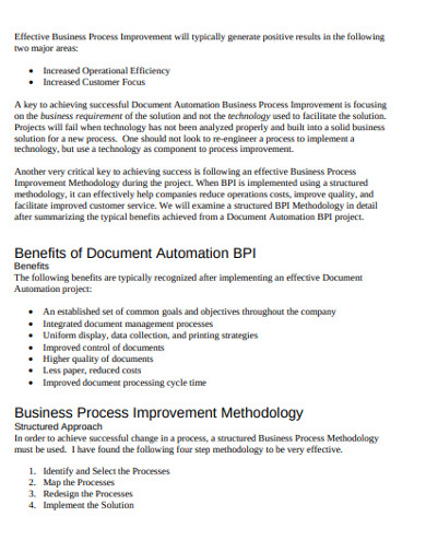 document business process example