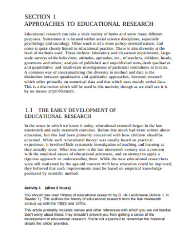 educational early development research example