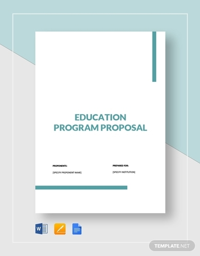 educational program proposal template