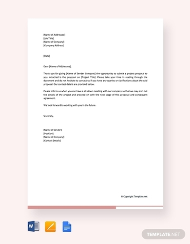 educational project proposal letter