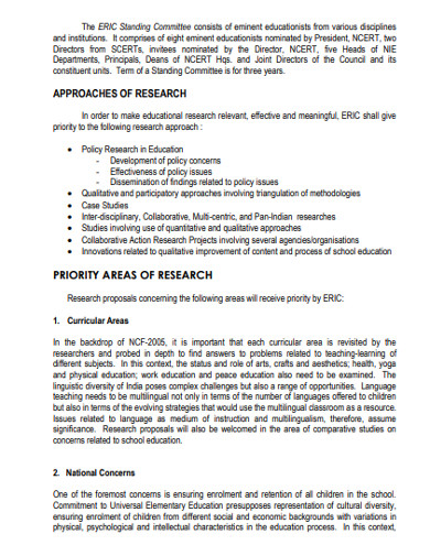 educational research and innovation commitee example