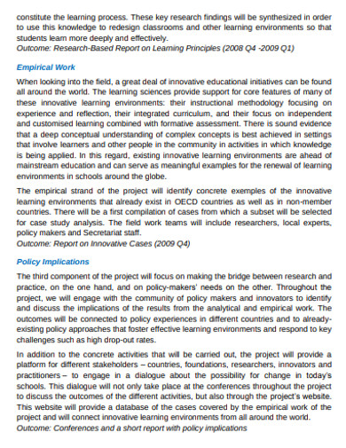 educational research policy example