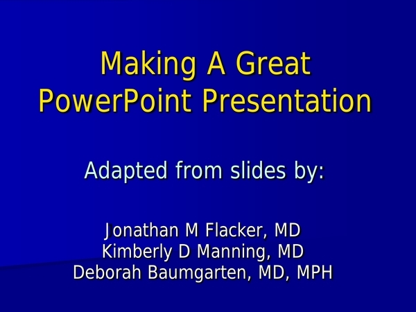 effective powerpoint presentation