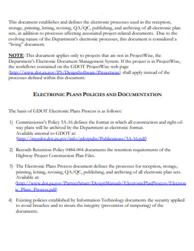 electronic document plan process example