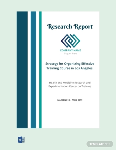 free nursing research report cover page template