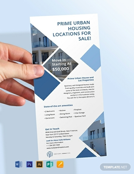 free real estate agency rack card template 440x570 1