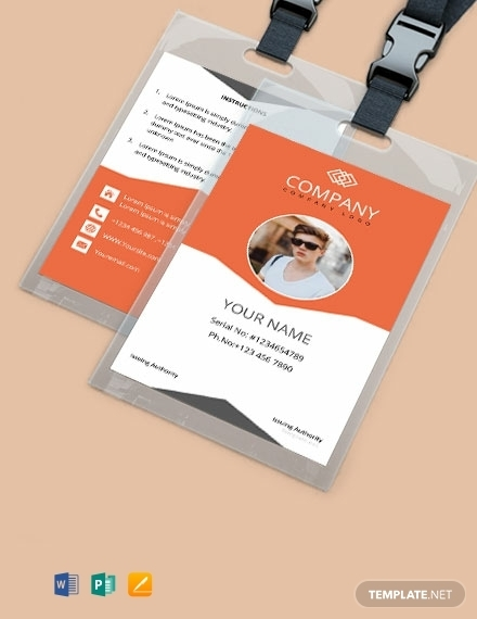 free sample company id card template 440x570 1