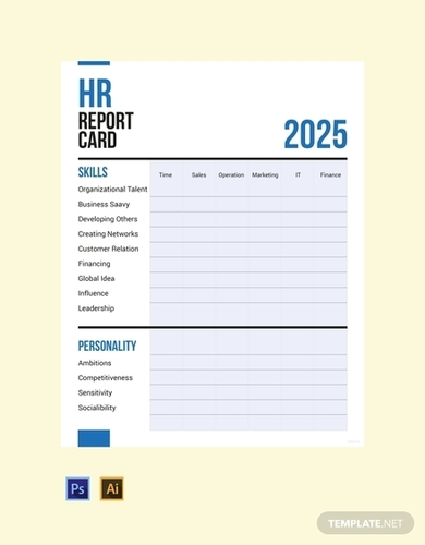 hr report card