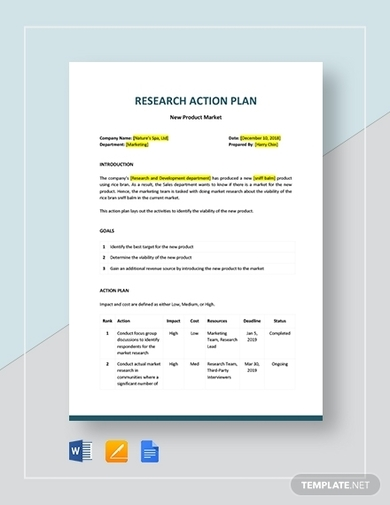 historical research action plan template