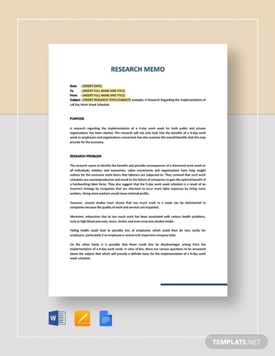 historical research memo template
