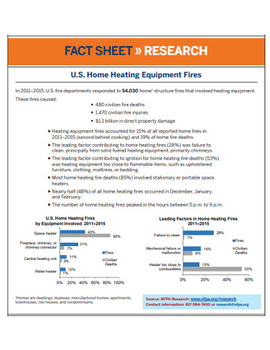 home equipment research fact sheet example