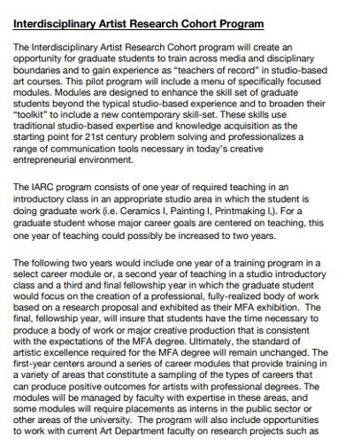 interdisciplinary artist research cohort program