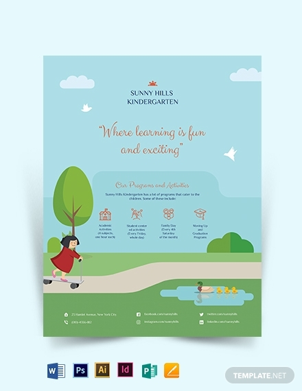 kindergarten flyer template 1x