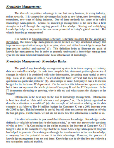 knowledge management in doc