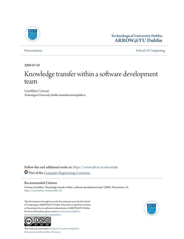 knowledge transfer plan 1