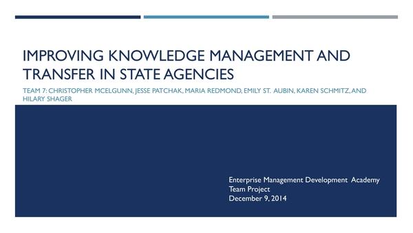 knowledge transfer plan 10