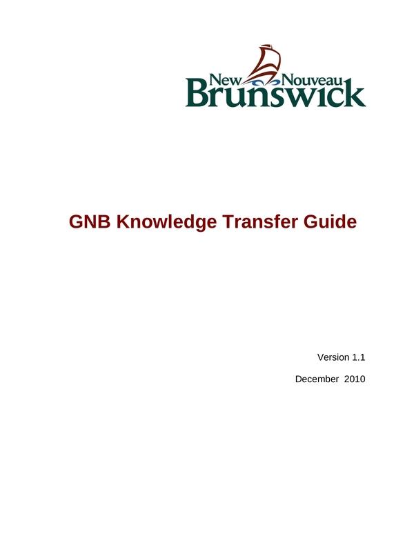 knowledge transfer plan 3
