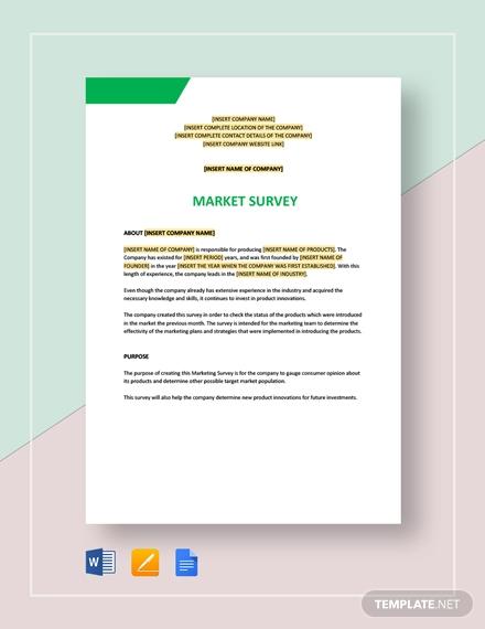 market survey 2
